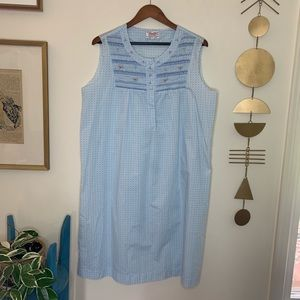 Vintage baby blue shirred nightgown